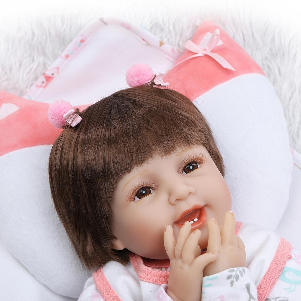 chinatera Kids Toys NPK 3D Cute Artificial Realistic Reborn Baby Doll Soft Silicone Cloth Dolls Kids Playmate by chinatera (Image #5)