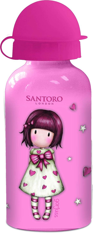 ALMACENESADAN 2632, Botella Aluminio Gorjus; Capacidad 400 ml; Producto de plástico; No BPA.