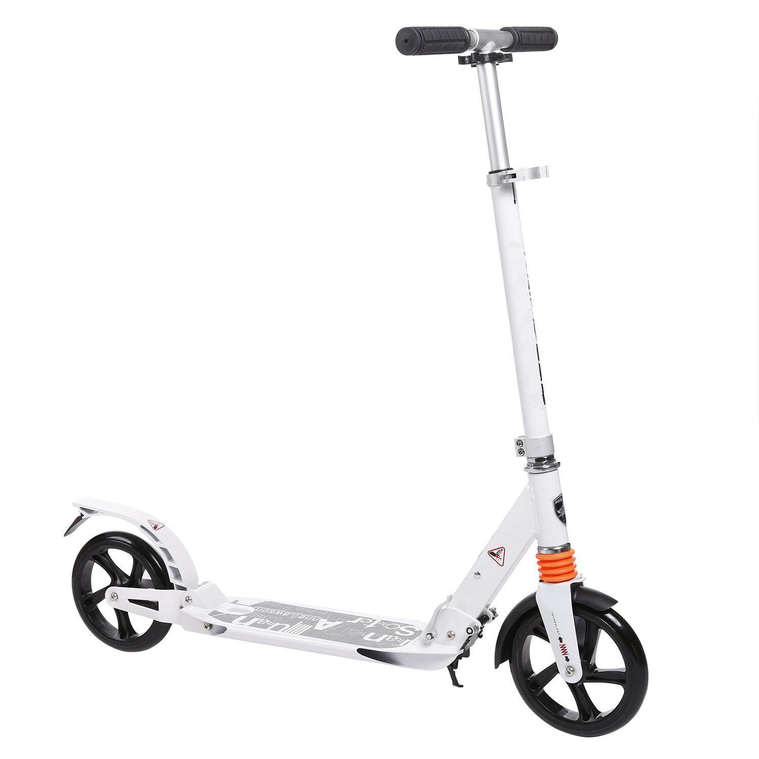 Vansop 2 Wheel Scooter Lightweight Height Adjustable Aluminum Alloy T-Style Foldable City Urban Commuter Street Push Scooter US Stock