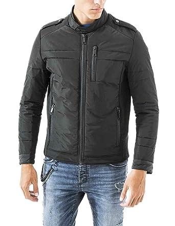 innovative design c1287 9013b Antony Morato Jacke Mann Biker-Nylon 56 Schwarz: Amazon.de ...