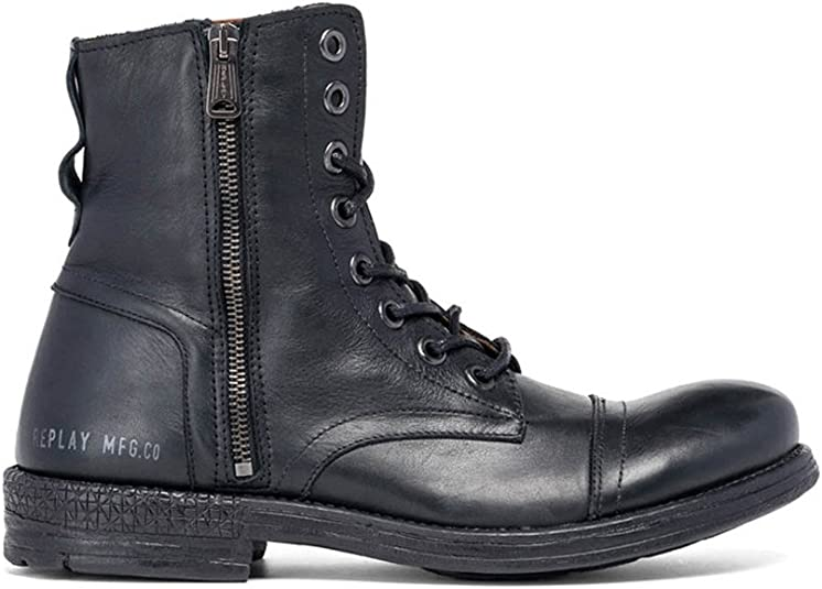 REPLAY Men's Phim Leather Ankle Boots