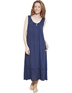 7e911c8dc2 Cyberjammies 1216 Women s Nora Rose Navy Blue Solid Colour Night Gown  Loungewear Nightdress