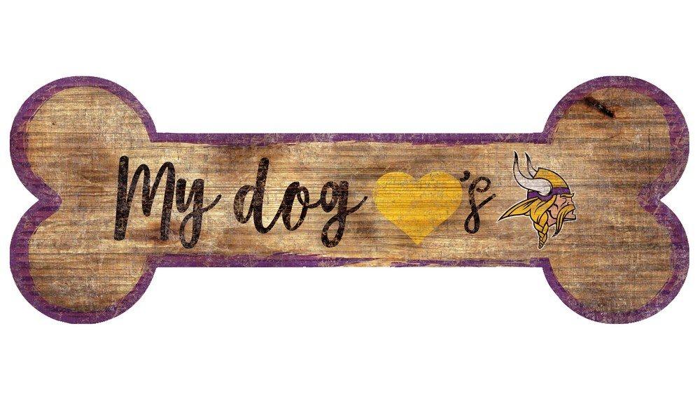 Fan Creations Minnesota Vikings Dog Bone Sign Multi N0839-MIN