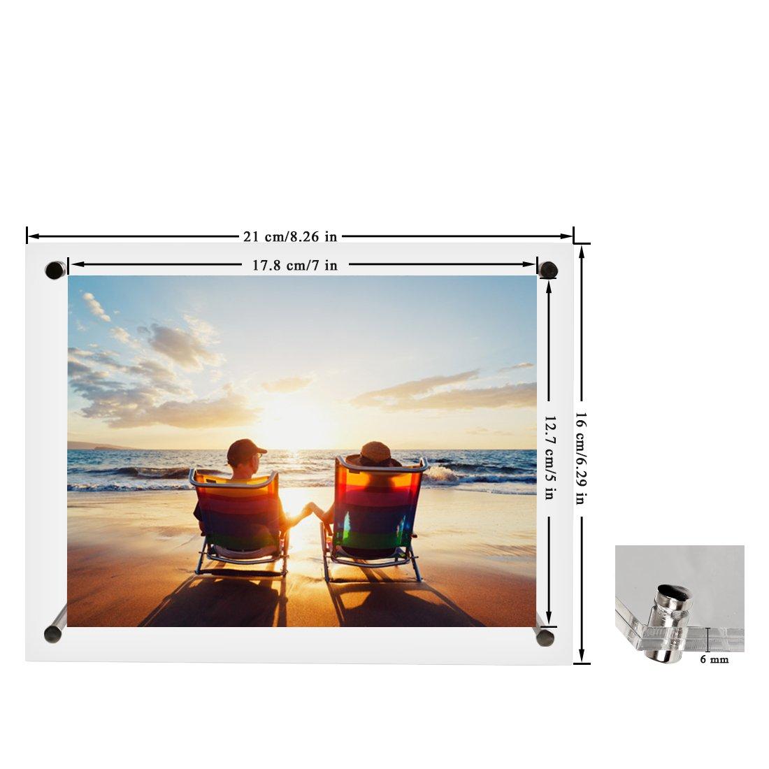 Amazon.de: BOJIN Bilderrahmen 13 x 18 CM Acrylglas- Transparent ...