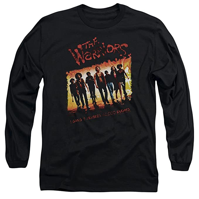 The Warriors - Camiseta - Manga Larga - Hombre Negro negro Medium