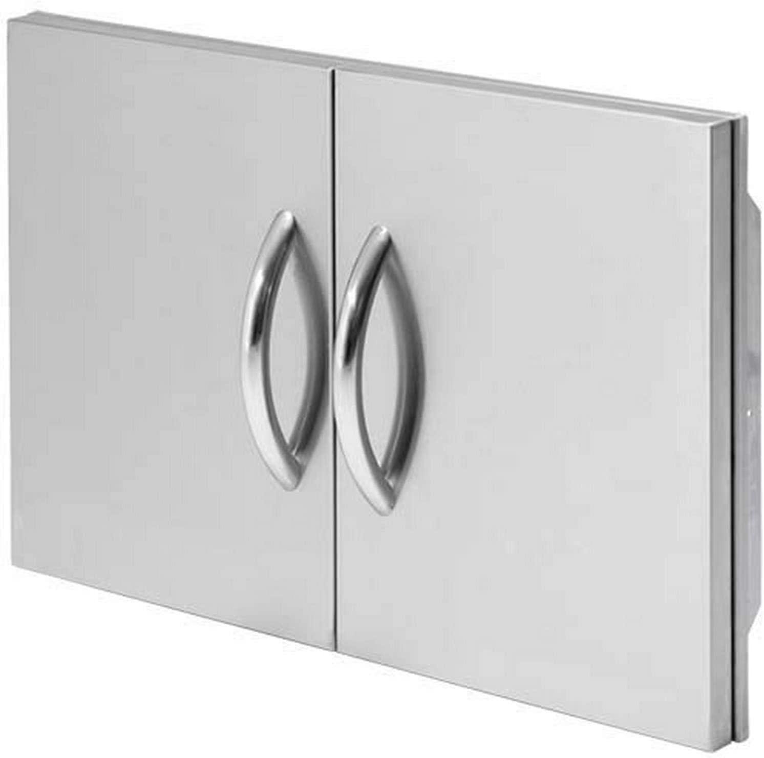 Cal Flame 089245002543 30 Outdoor Double Access Door, Stainless Steel