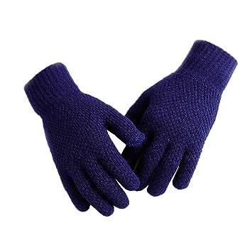 a423f3e6d61b52 Boomly Herren Winterhandschuhe Gestrickte thermische Touchscreen Handschuhe  SMS Smartphone Fleece Futter Volle Fingerhandschuhe Laufen Fahren Radfahren