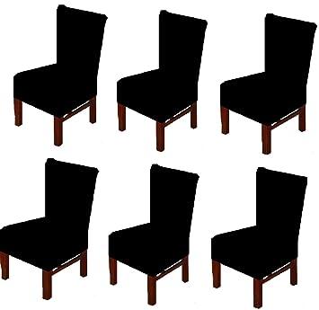 Amazon.com: Moonter - Juego de 6 fundas para sillas de ...