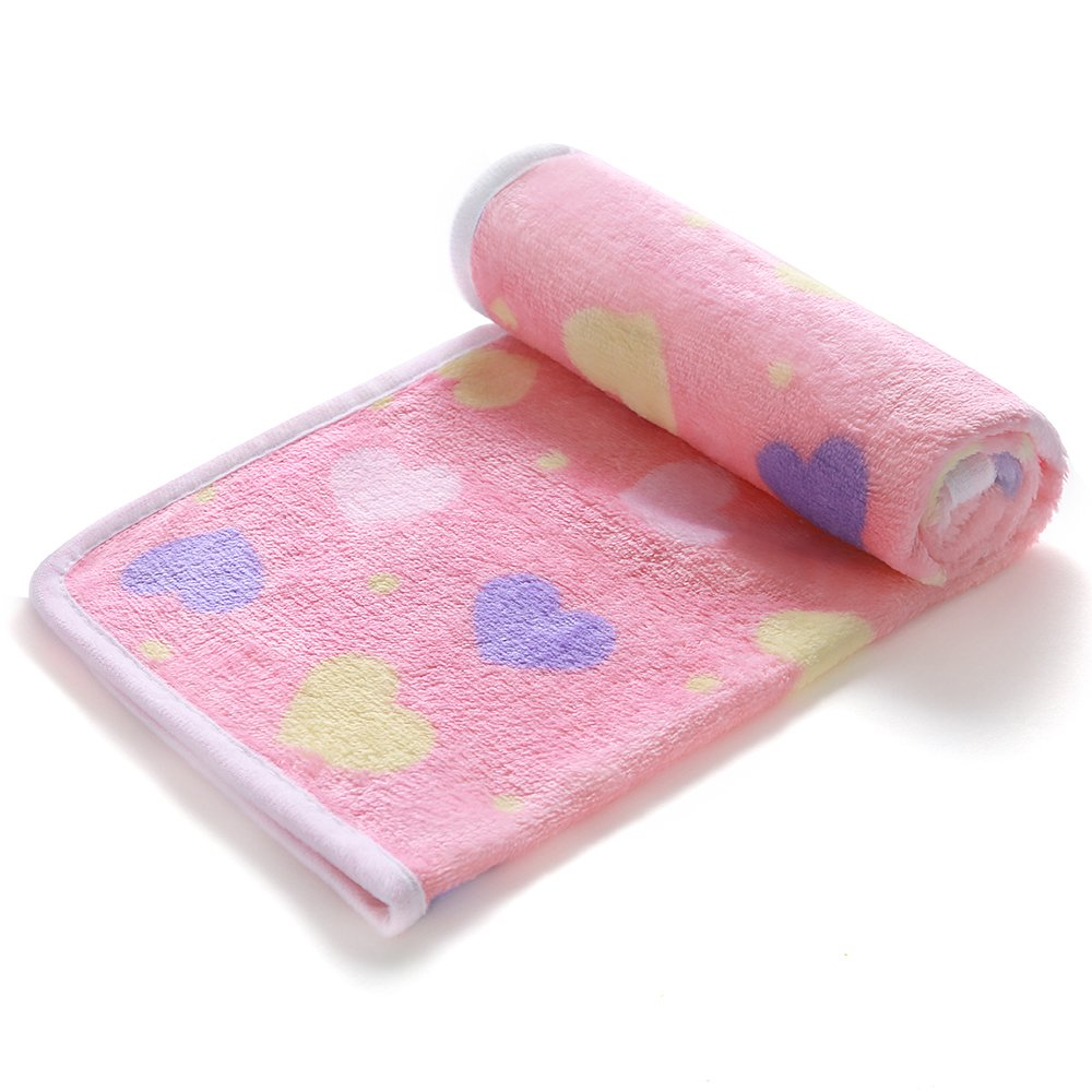 luciphia 1 Pack 3 Blankets Super Soft Fluffy Premium Fleece Pet Blanket Flannel Throw for Dog Puppy Love Small by luciphia (Image #3)