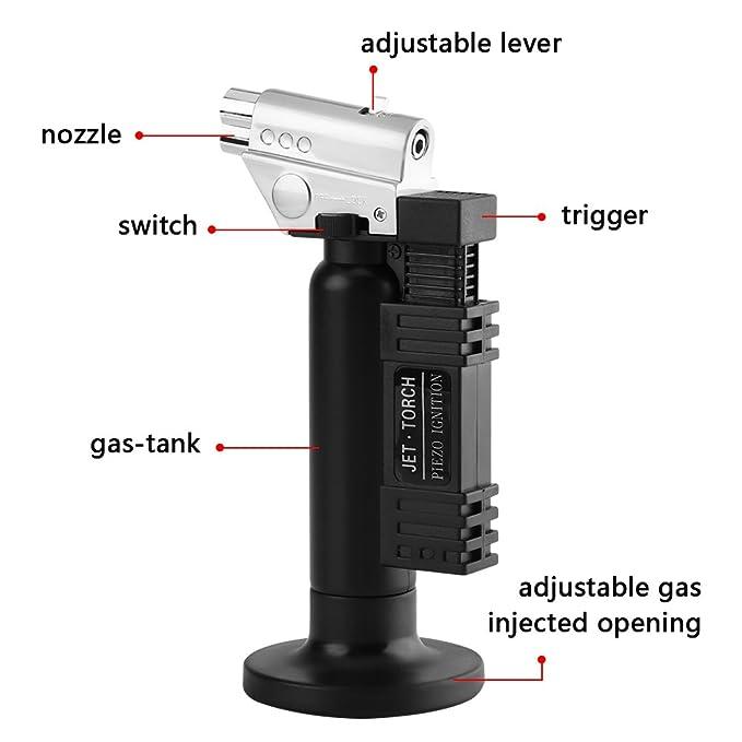 Antorcha del Quemador de Gas de Llama de Butano Soldador de Ignición de 6.3 pulgadas 1300 ℃ / 2500 ℉ Equipo del Laboratorio: Amazon.es: Bricolaje y ...