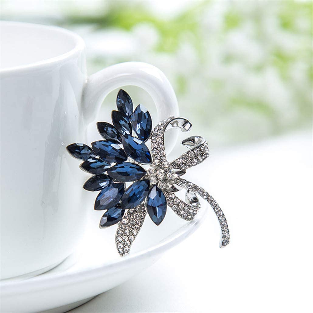 NYAOLE Broche en strass pour v/êtements collier blanc robe et /écharpe Bleu
