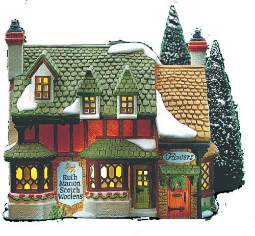 Department 56 Heritage Village Collection - Dickens Village Series - Ruth Marion Scotch Woolens House - Limited Edition Retired and Rare #5585-9 by Dept.56.Collectibles