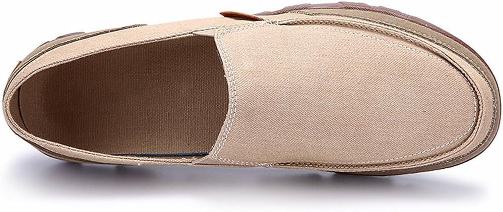 wealsex Mocassin Homme Basket Basse Toile sans Lacets Sneakers Chaussure Tennis Casual Conduite Marche Grande Taille 45 46 47 48
