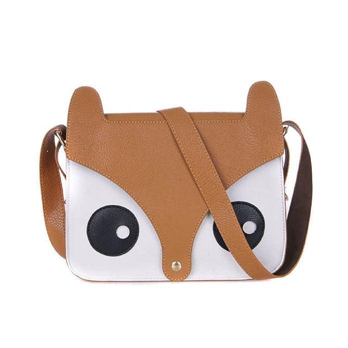 372bcc262837 Egmy Fashion Baby Girl's Cotton Shoulder Bag Cartoon Fox Backpacks ...