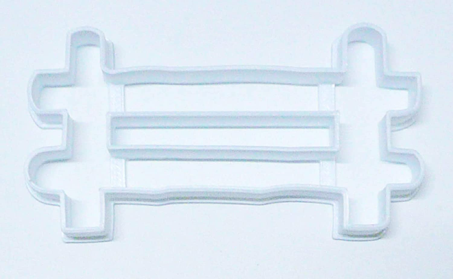FENCE OUTLINE FENCING PANEL WOODEN PICKET GARDEN YARD HOME FARM SPECIAL OCCASION COOKIE CUTTER BAKING TOOL 3D PRINTED MADE IN USA PR2974