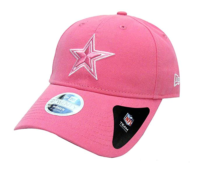 uk availability 7d448 bad4b Amazon.com   New Era Dallas Cowboys Strapback Womens Adjustable Pink Cap  Hat NFL Cotton   Clothing