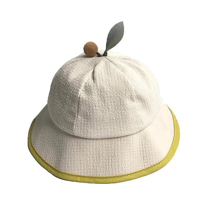 Lonshell _Sombrero Pesca para Bebé Niños Niñas Gorras de Forma de la Hoja Primavera, Verano, Otoño Sombrero de Sol 1-6 Meses (1-6 Meses, Beige): Amazon.es: ...