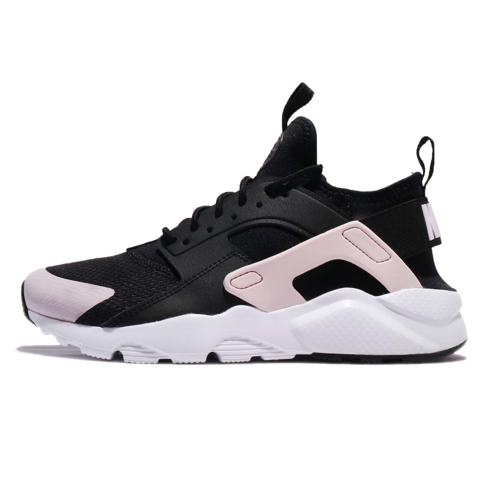 NIKE Kid's Air Huarache Run Ultra GS, Black/Barely Rose-White, Youth Size 4 by NIKE