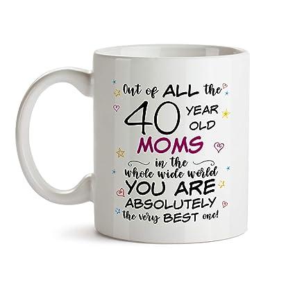 40th Mom Birthday Gift Mug
