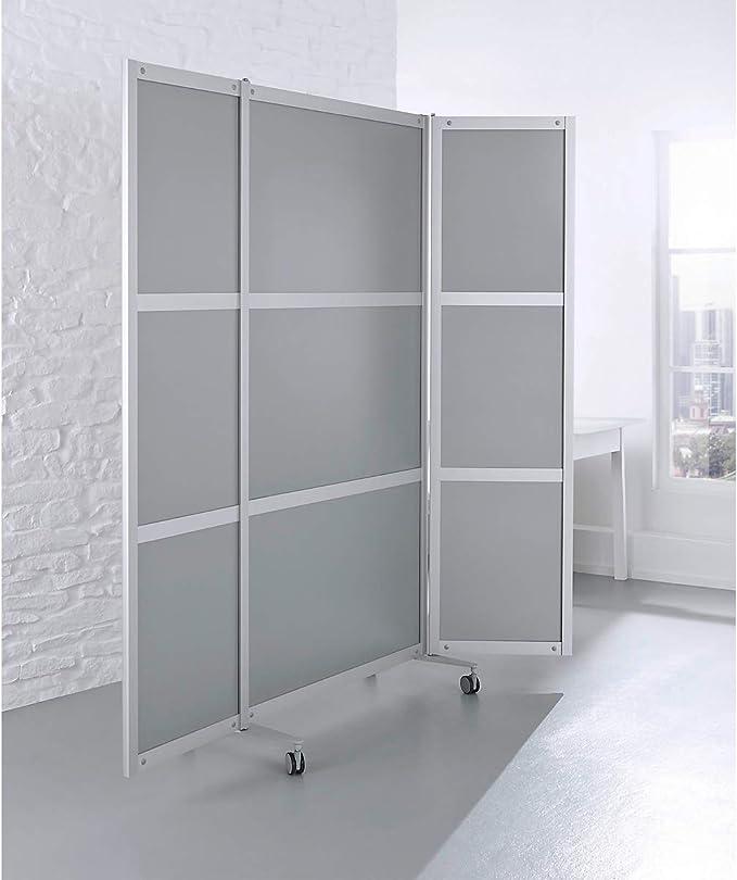 Plegable-tabique, móvil, anchura 1000/2000 x 40 x 1980 mm, estructura de aluminio, relleno de DM-plateado, 4 RO: Amazon.es: Bricolaje y herramientas