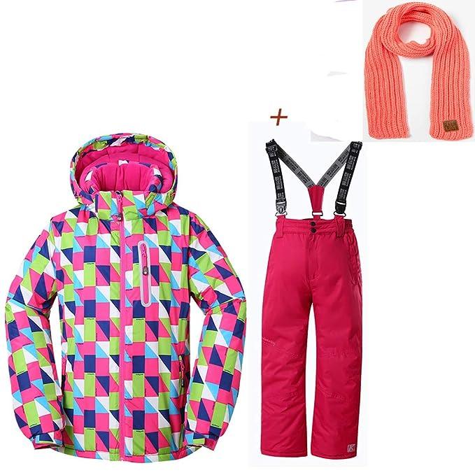 e5e63bf507ca SunFlower666 Girl s Snowboard Jacket Waterproof Outerwear Hooded ...