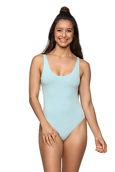 e222e7457ac3 Amazon.com: Cemi Ceri Women's J2 Love Cotton Tank Thong Bodysuit ...