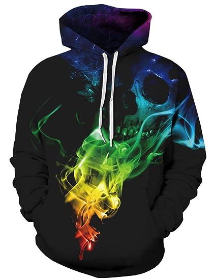 Rave on Friday 3D Hoodie Herren Druck Kapuzenpullover Drawstring Sweatshirt mit Tasche