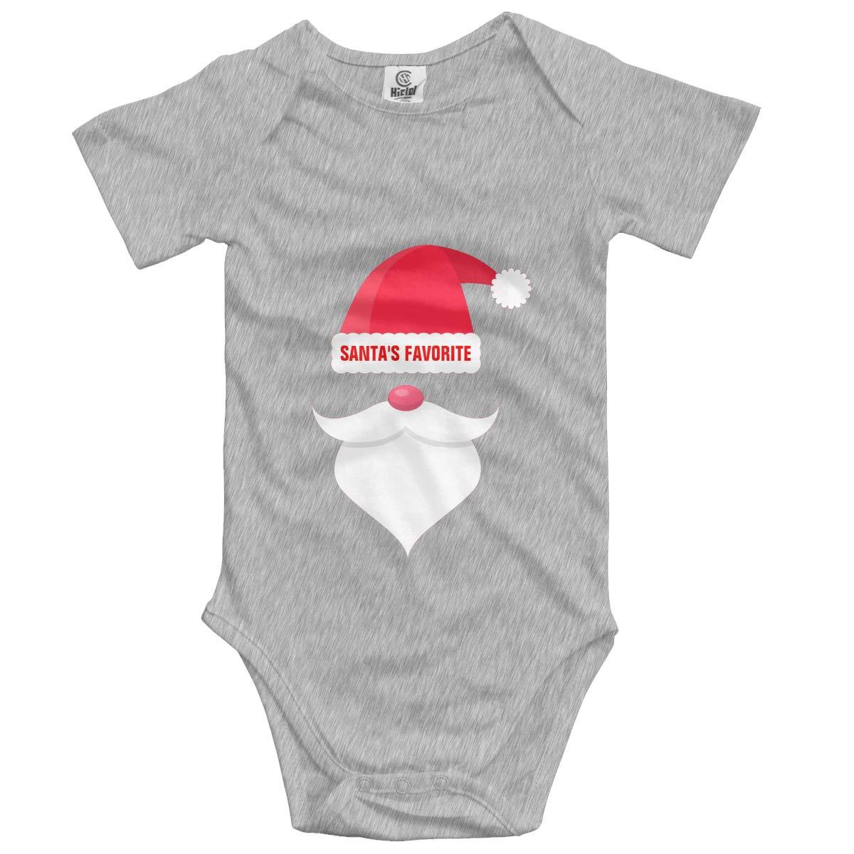 Nanagang Christmas Santas Favorite Baby Short Sleeves Babyclothess Lovely Gray