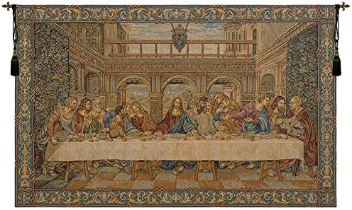 The Last Supper IV Italian Tapestry Wallhanging