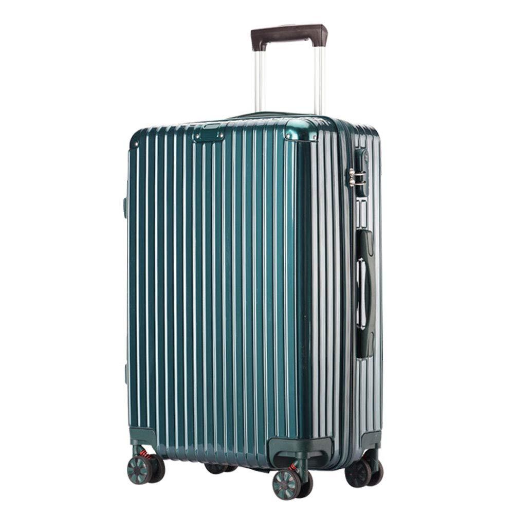 WJ スーツケース トロリーケース - ABS/PC、防水および衝突防止、調節可能なレバー、スタイリッシュで小さくて傷の付かないキャスターの学生大容量パスワードスーツケース - 5色、2サイズあり /-/ (色 : 濃い緑色, サイズ さいず : 45*28.5*65.5cm) B07NL86ZRY 濃い緑色 45*28.5*65.5cm