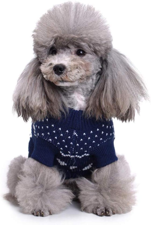 ISSHE Warme Hundepullover Sweater Gestrickter Pullover f/ür Kleine Hunde Hunde Pullover Katzenpullover f/ür Herbst Winter