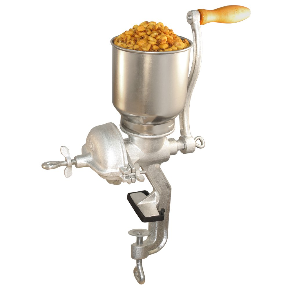 Weston Grain and Corn Mill (36-3601-W) with Ergonomic Handle and Table Clamp by Weston
