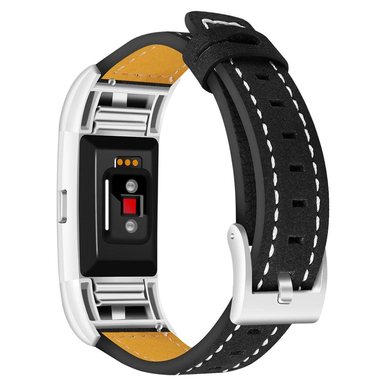 For Fitbit Charge 2 Watchバンド、交換用レザーバンドストラップブレスレットメンズレディース  B07861S243