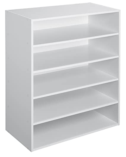 Merveilleux ClosetMaid 1565 Stackable 5 Shelf Organizer, White