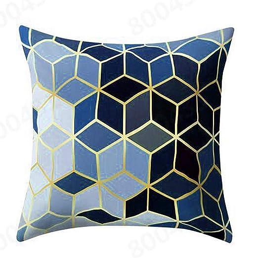 VJGOAL Hexagonal de Nido de Abeja de impresión Suave Cojín Cómodo Funda de Almohada Cuadrada Decoración del Hogar(45_x_45_cm,Negro2)