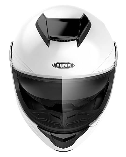 Amazon.com: Motorcycle Full Face Helmet DOT Approved - YEMA YM-831 Motorbike Moped Street Bike Racing Crash Helmet with Sun Visor for Adult, Men and Women ...
