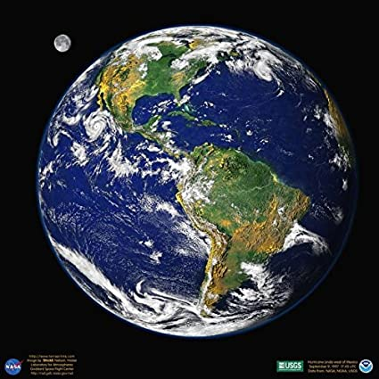 Terra Earth Map.Amazon Com Terra Prints Earth Western Hemisphere Satellite Poster