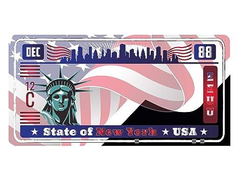 Oedim Matricula Decorativa Americana 30,00 cm x 15,00 cm York   Decoración