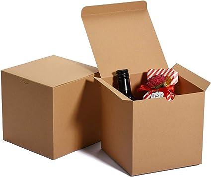 5 PACK Square Cake Boxes Self Build Cardboard Window Wedding Birthday