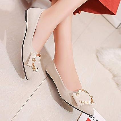 Darringls_Zapatos de Invierno Mujer,Zapatillas Botas Altas de Rodilla Mujer Bota de tacón Plano Zapatos de otoño Invierno: Amazon.es: Ropa y accesorios