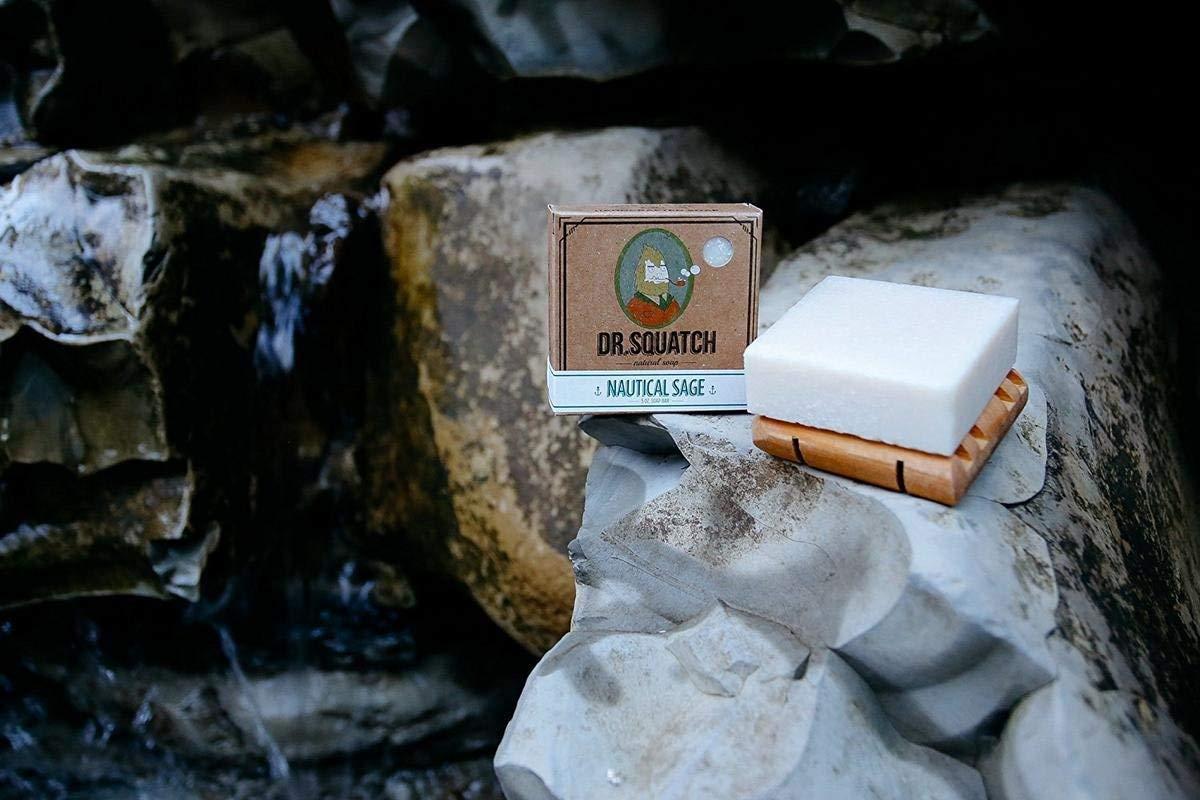Dr. Squatch Men s Soap Sampler Pack 3 Bars Pine Tar, Cedar Citrus, Nautical Sage Natural Manly Scented Organic Soap for Men 3 Bar Bundle Set