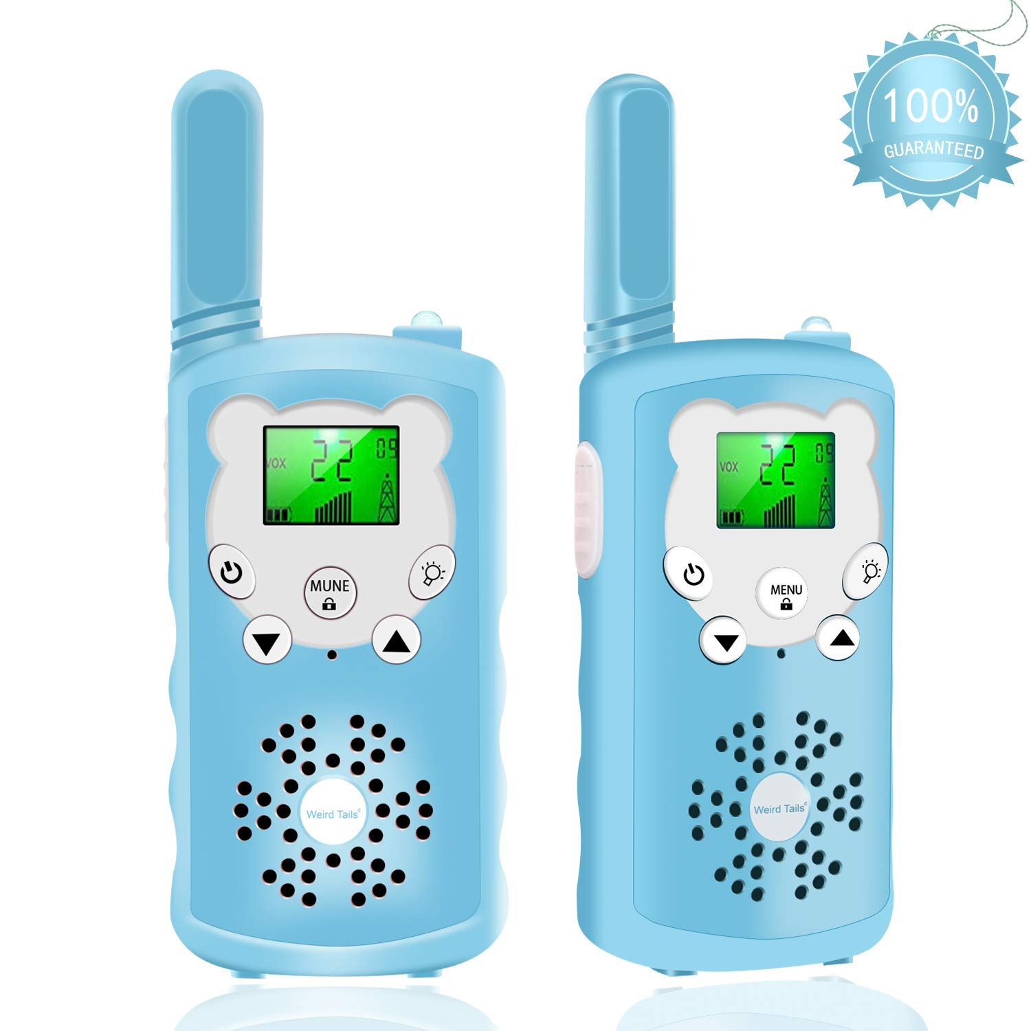 Walkie talkies for Kids - 4-Mile Range Kids walkie talkies with 22 FRS/GMRS Channels, Childrens Toys with BPA-Free ABS eco-Friendly Materials, Great Gift for 3-12 Year Old Boys and Girls,Teen Gift by weird tails (Image #1)