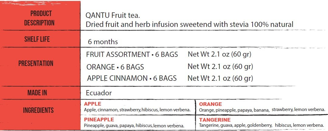 DRIED & HERB INFUSION FRUITS ASSORTMENT (6 TEA BAGS)