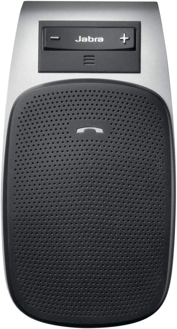 Jabra Drive – Altavoz Bluetooth para Automóvil, Micrófono y Altavoz Manos Libres con Cancelación de Ruido para Llamadas, Música y GPS, Conexión Rápida con Jabra Tour, Negro