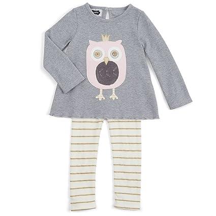 dfe01360409 Amazon.com  Mud Pie Owl Tunic   Leggings Set (4T)  Home   Kitchen