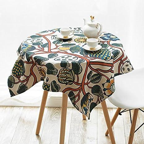 New One Day-mesa de sábanas de algodón de tela pastoral del lateral del gabinete toallas de mesa Mueble de televisión Cubierta de la toalla de café: ...