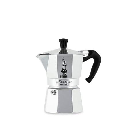 Bialetti Moka Express - Cafetera Espresso para 3 Tazas, Color Plata