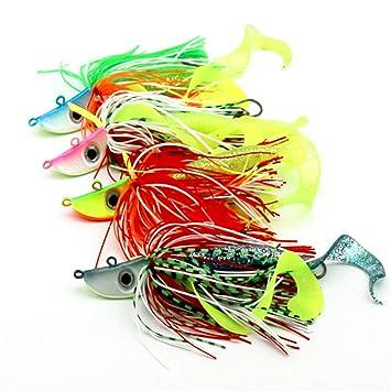 1 Piece 20G Fishing Rotator Bait, Hard Metal Fishing Skirt