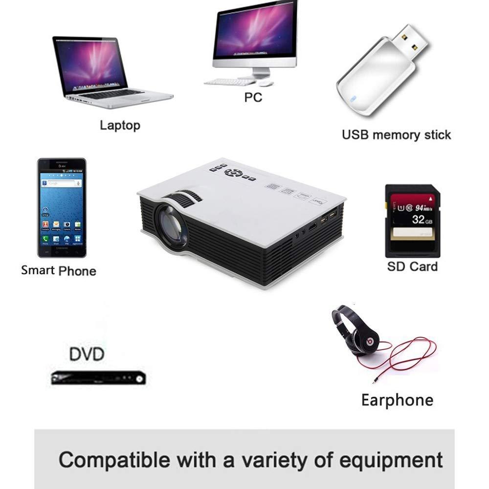 Amazon.com: Salange UC40 Plus LED Projector 1200 lumens Home ...
