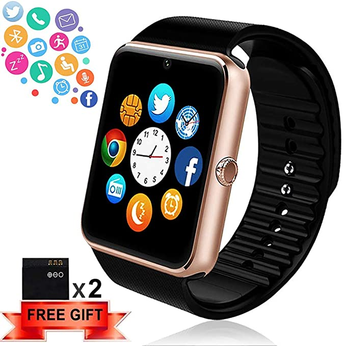 019fcf1426334 Bluetooth Smart Watch - ANCwear Smartwatch for Android Phones with SIM Card  Slot Camera
